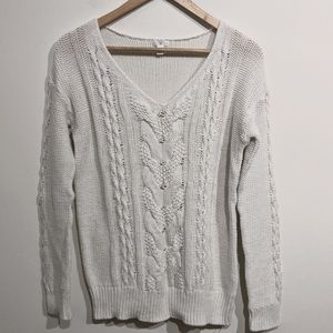 BP. |White Cable Knit sweater